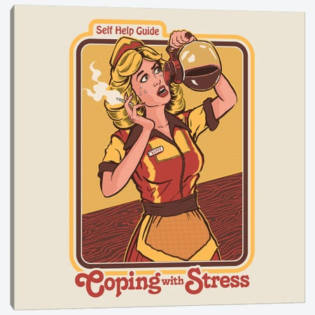 Coping With Stress Canvas Print #STV9} by Steven Rhodes Art Print