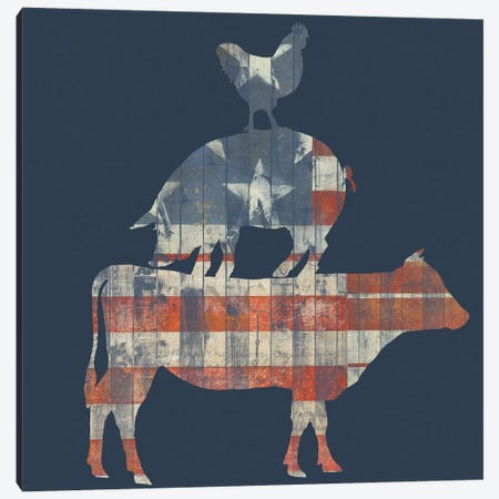 Fourth on the Farm Collection A Canvas Print #STW110} by Studio W Canvas Artwork