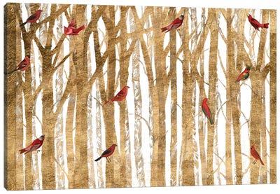 Red Bird Christmas Collection A Canvas Art Print