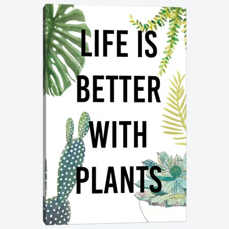Plant Love III Canvas Print #STW15} by Studio W Canvas Wall Art