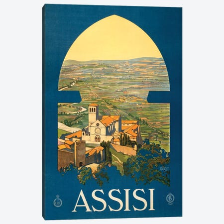 Assisi Travel Poster Canvas Print #STW28} by Studio W Canvas Art