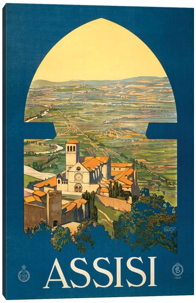 Assisi Travel Poster Canvas Art Print