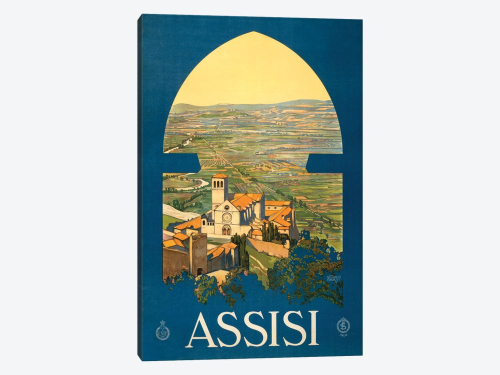 Assisi Travel Poster by Studio W 1-piece Canvas Wall Art