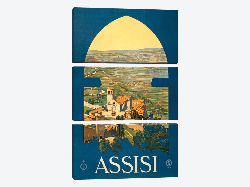 Assisi Travel Poster by Studio W 3-piece Canvas Wall Art