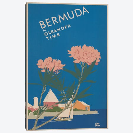 Bermuda Travel Poster I Canvas Print #STW29} by Studio W Canvas Wall Art