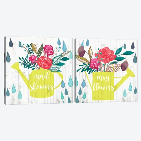 April Showers & May Flowers Diptych Canvas Print Set #STW2HSET001} by Studio W Canvas Art Print
