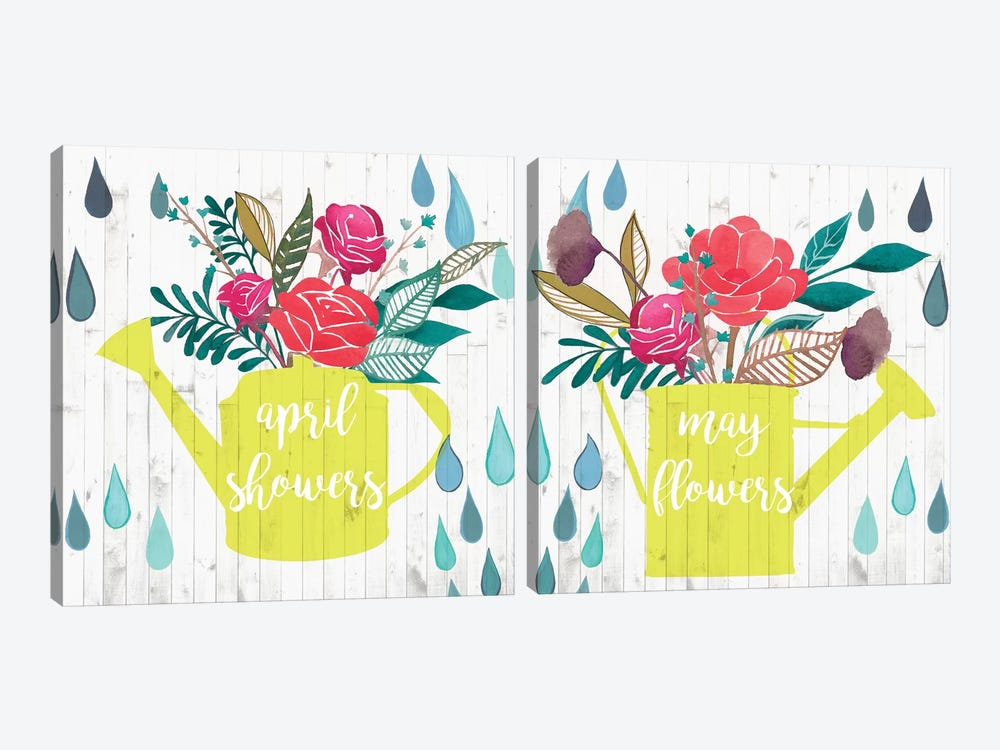April Showers & May Flowers Diptych by Studio W 2-piece Canvas Artwork