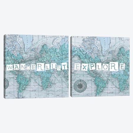 Map Words Diptych Canvas Print Set #STW2HSET002} by Studio W Canvas Print
