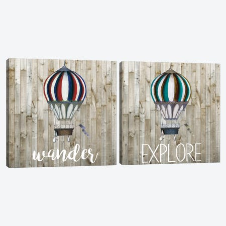 Young Explorer Diptych Canvas Print Set #STW2HSET003} by Studio W Canvas Art Print