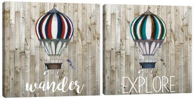 Young Explorer Diptych Canvas Art Print