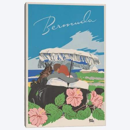 Bermuda Travel Poster II Canvas Print #STW30} by Studio W Canvas Print