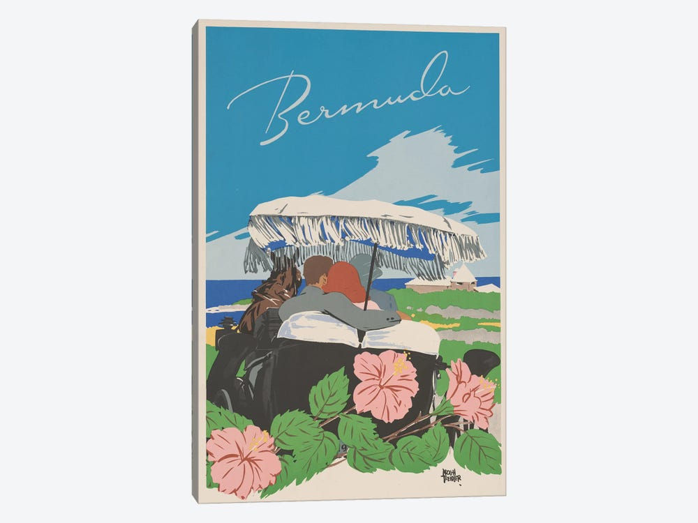 Bermuda Travel Poster II by Studio W 1-piece Canvas Print