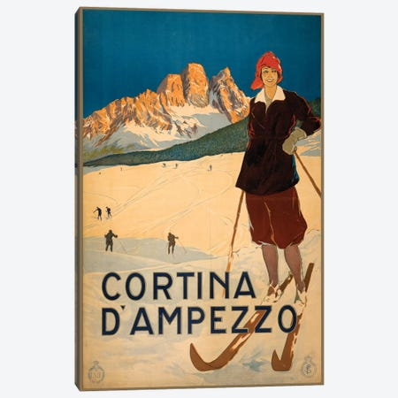Cortina d'Ampezzo Travel Poster Canvas Print #STW31} by Studio W Canvas Art Print