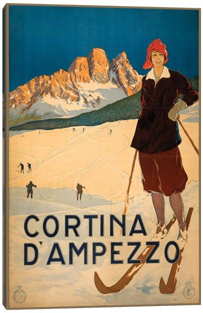 Cortina d'Ampezzo Travel Poster Canvas Art Print