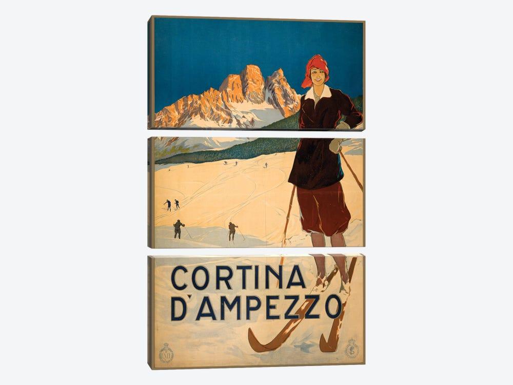 Cortina d'Ampezzo Travel Poster by Studio W 3-piece Canvas Art