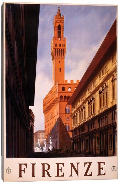 Firenze Travel Poster Canvas Art Print