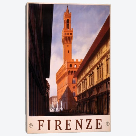 Firenze Travel Poster Canvas Print #STW32} by Studio W Canvas Art Print