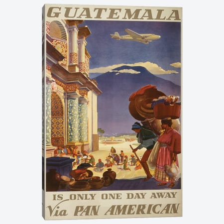 Guatemala Travel Poster Canvas Print #STW33} by Studio W Art Print