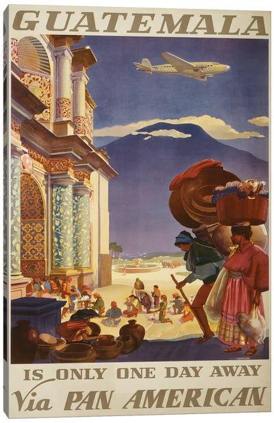 Guatemala Travel Poster Canvas Art Print