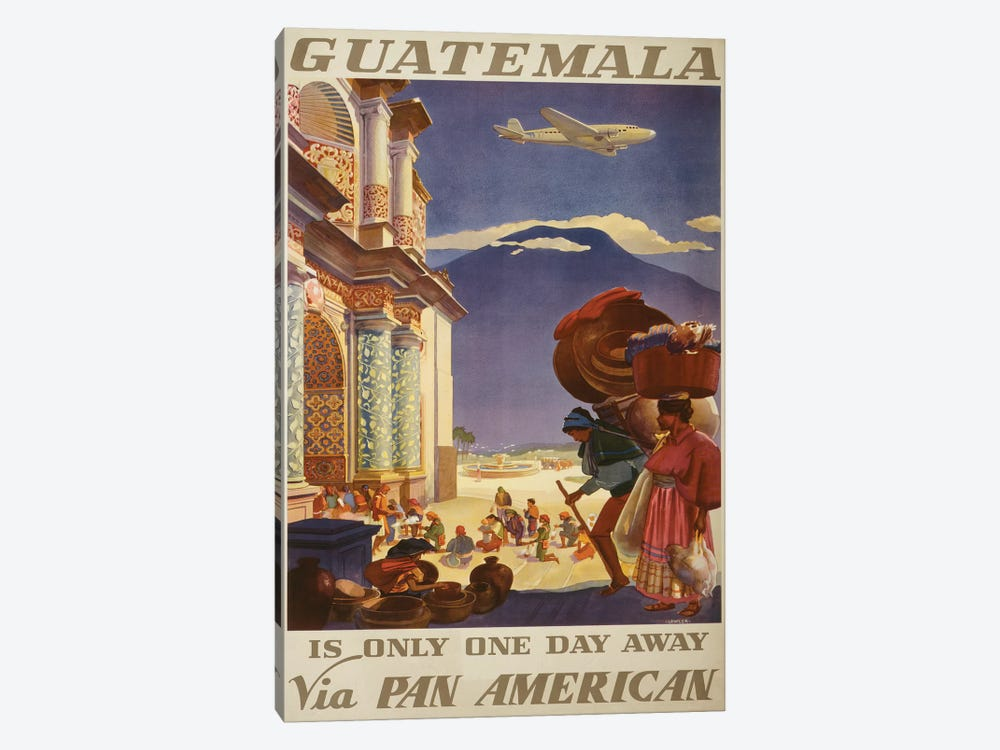 Guatemala Travel Poster by Studio W 1-piece Canvas Art