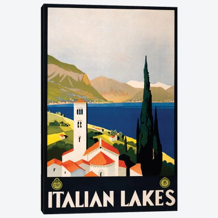 Italian Lakes Travel Poster Canvas Print #STW34} by Studio W Canvas Artwork