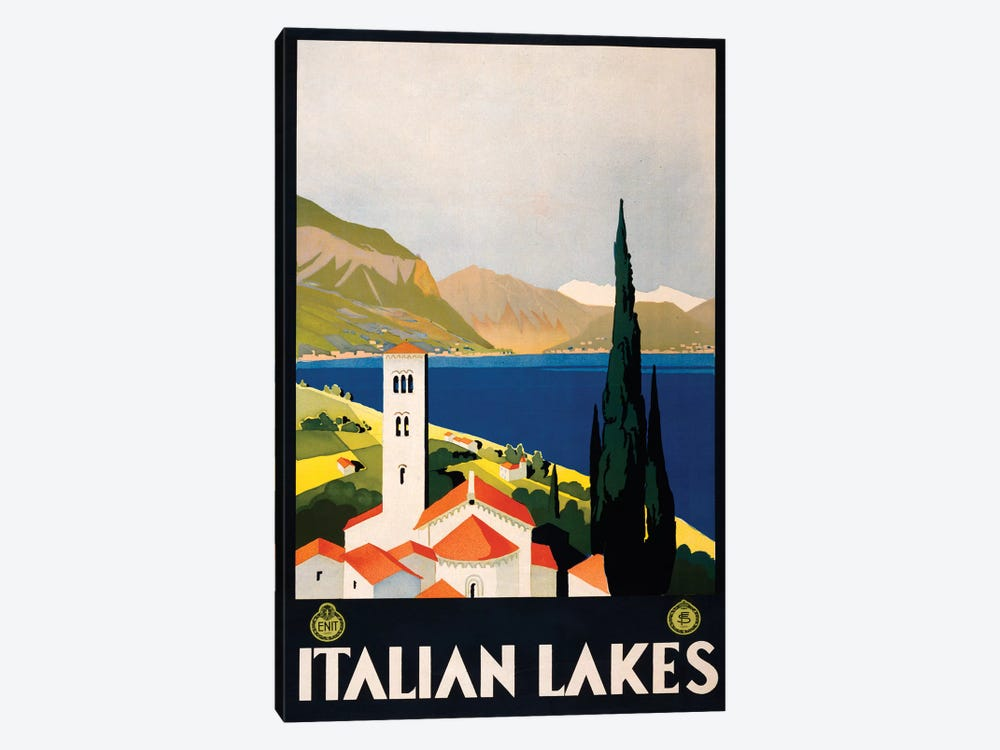 Italian Lakes Travel Poster by Studio W 1-piece Art Print