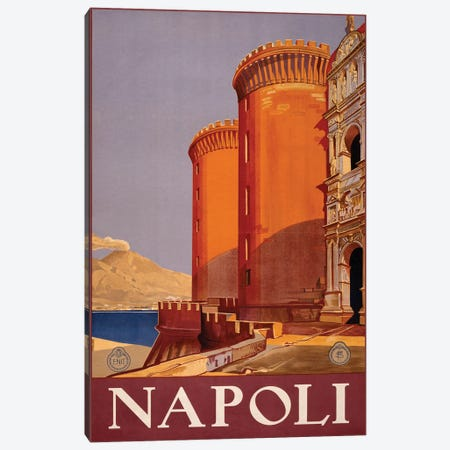 Napoli Travel Poster Canvas Print #STW35} by Studio W Canvas Artwork