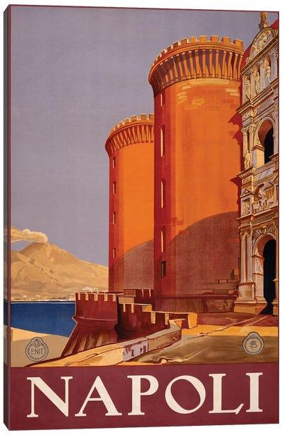 Napoli Travel Poster Canvas Art Print