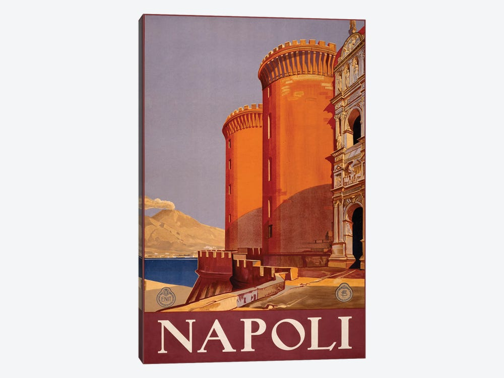Napoli Travel Poster by Studio W 1-piece Canvas Artwork