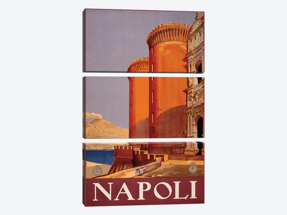 Napoli Travel Poster by Studio W 3-piece Canvas Wall Art