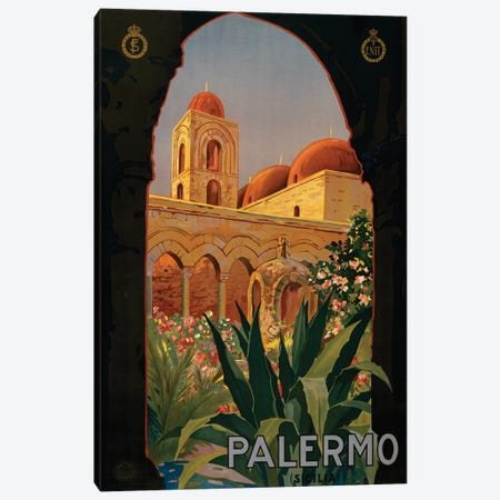 Palermo Travel Poster Canvas Print #STW36} by Studio W Canvas Art