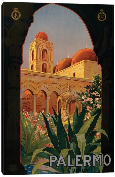 Palermo Travel Poster Canvas Art Print