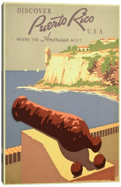 Puerto Rico Travel Poster I Canvas Print #STW37