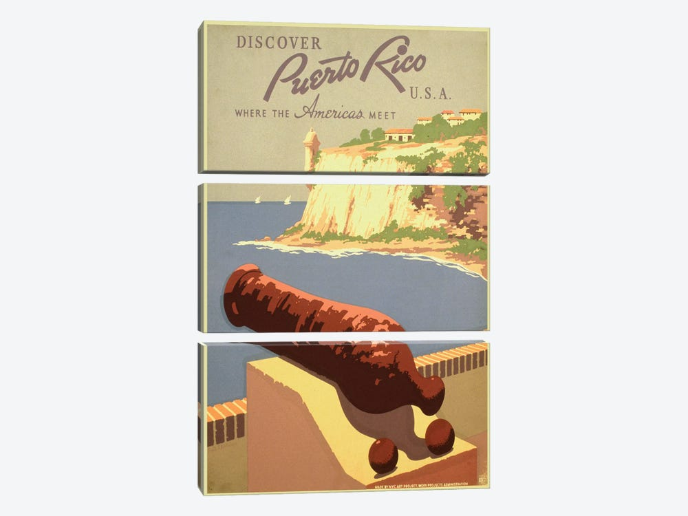 Puerto Rico Travel Poster I by Studio W 3-piece Canvas Art