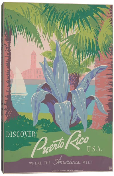 Puerto Rico Travel Poster II Canvas Print #STW38