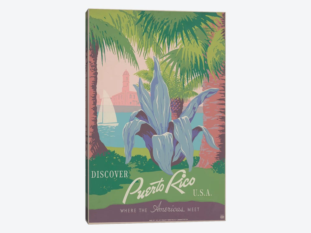 Puerto Rico Travel Poster II by Studio W 1-piece Art Print