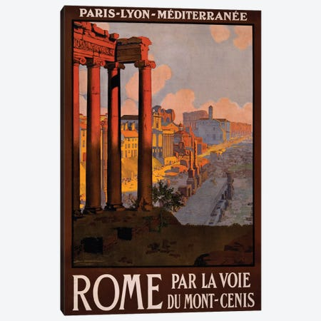 Rome Travel Poster Canvas Print #STW39} by Studio W Canvas Art Print