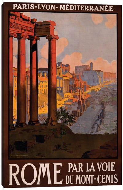 Rome Travel Poster Canvas Art Print