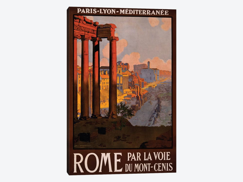 Rome Travel Poster by Studio W 1-piece Canvas Wall Art