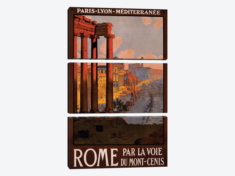 Rome Travel Poster by Studio W 3-piece Canvas Wall Art