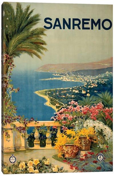 San Remo Travel Poster Canvas Art Print