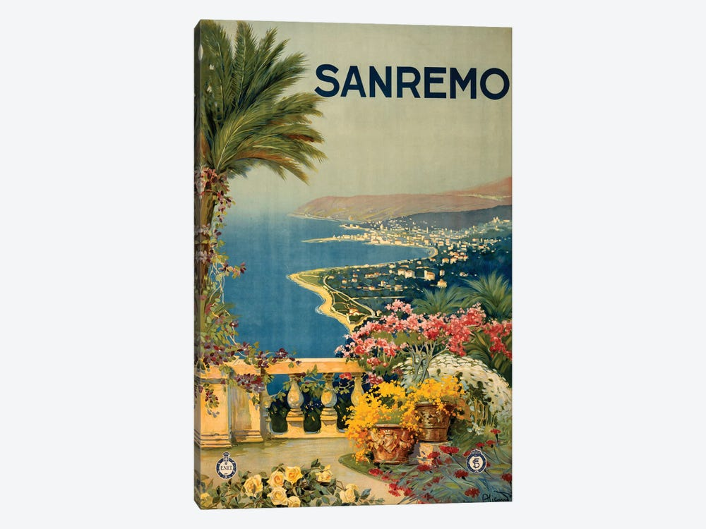 San Remo Travel Poster by Studio W 1-piece Canvas Art