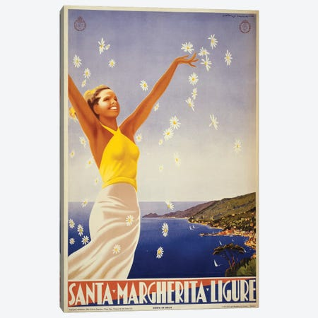 Santa Margherita Ligure Travel Poster Canvas Print #STW41} by Studio W Canvas Artwork