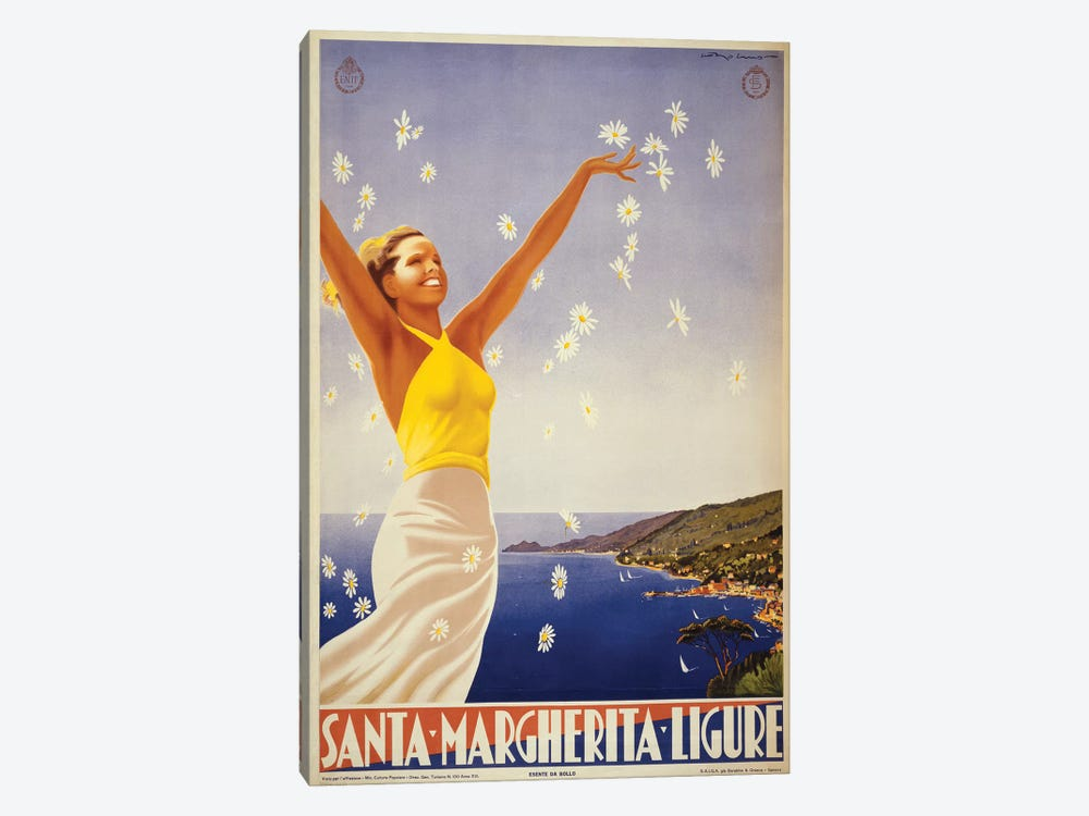 Santa Margherita Ligure Travel Poster by Studio W 1-piece Art Print
