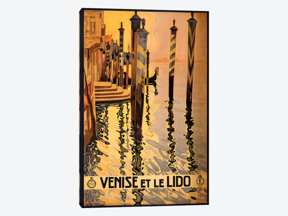 Venise Et Le Lido Travel Poster by Studio W 1-piece Canvas Wall Art