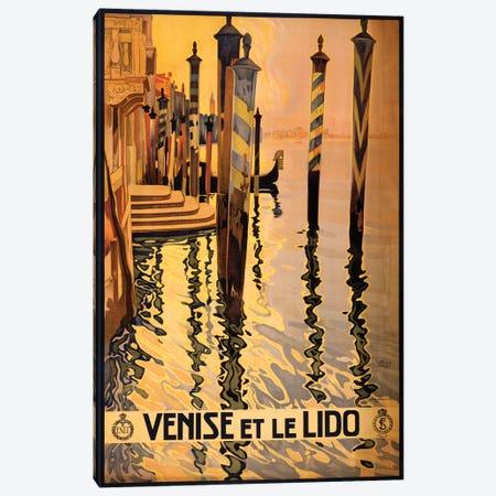 Venise Et Le Lido Travel Poster Canvas Print #STW42} by Studio W Canvas Artwork