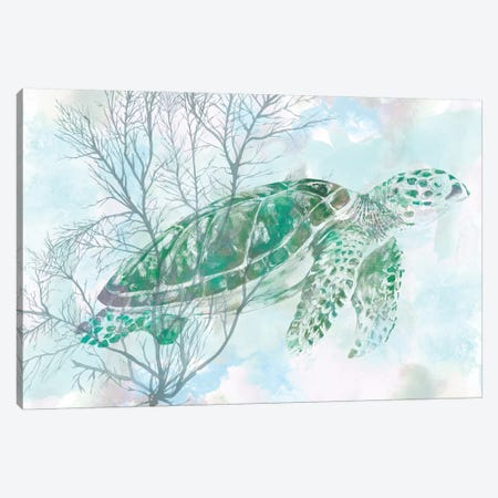 Watercolor Sea Turtle I Canvas Print #STW43} by Studio W Canvas Art