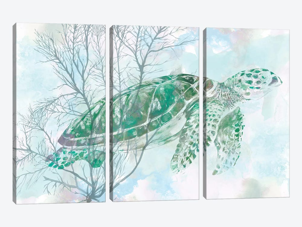 Watercolor Sea Turtle I by Studio W 3-piece Art Print