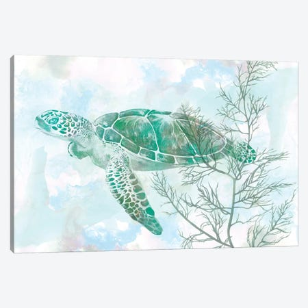 Watercolor Sea Turtle II Canvas Print #STW44} by Studio W Canvas Print