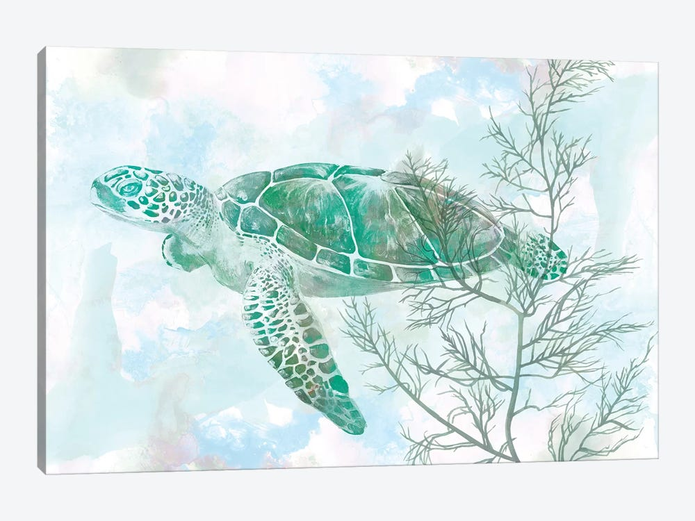Watercolor Sea Turtle II by Studio W 1-piece Canvas Art